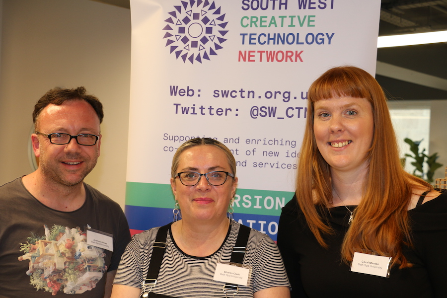 Three research fellows from the South West Creative Technology Network