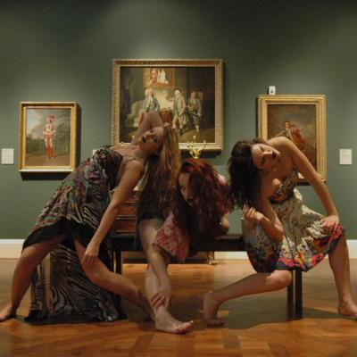Performers in an art gallery2